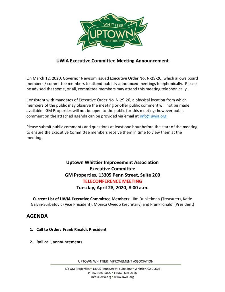 thumbnail of UWIA Executive Committee Meeting Agenda Packet 04-28-2020