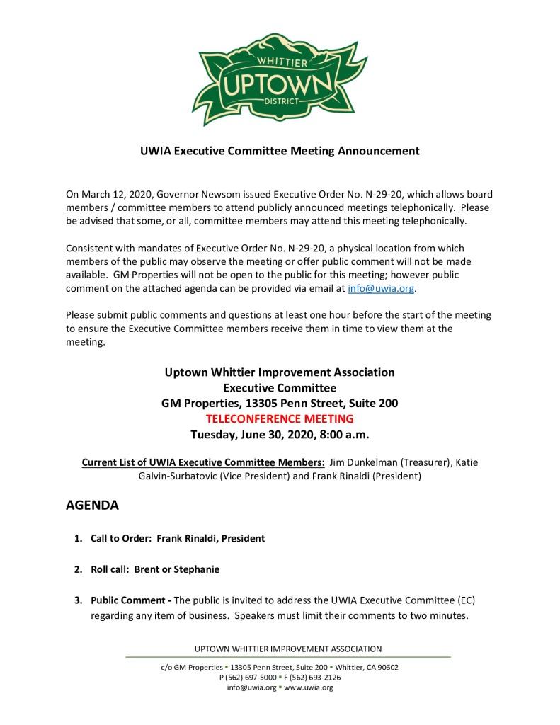 thumbnail of UWIA Executive Committee Meeting Agenda Packet 06-30-2020