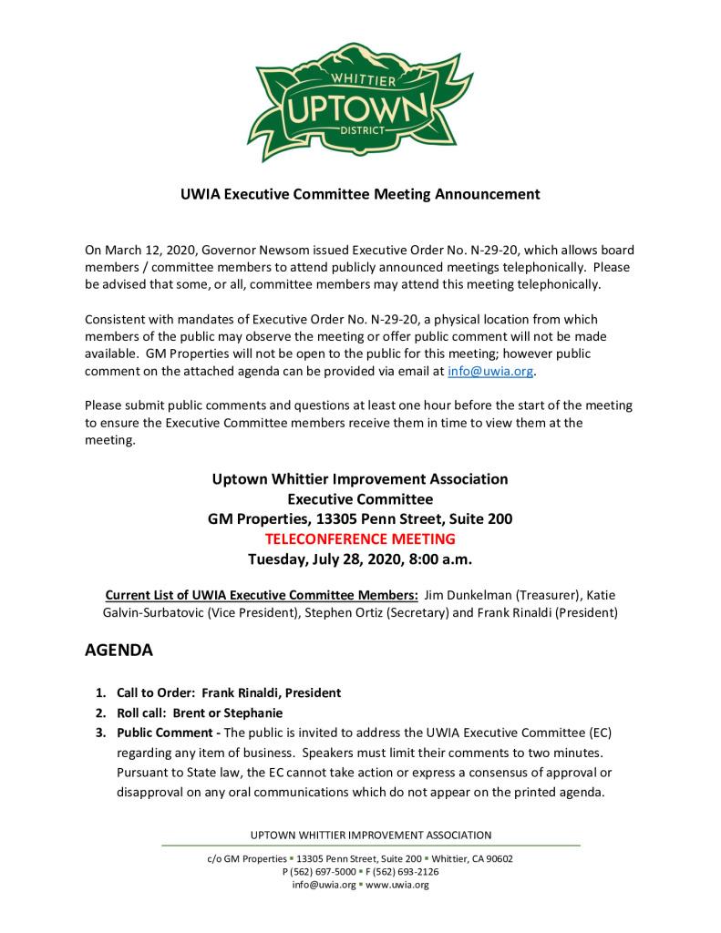 thumbnail of UWIA Executive Committee Meeting Agenda Packet 07-28-2020