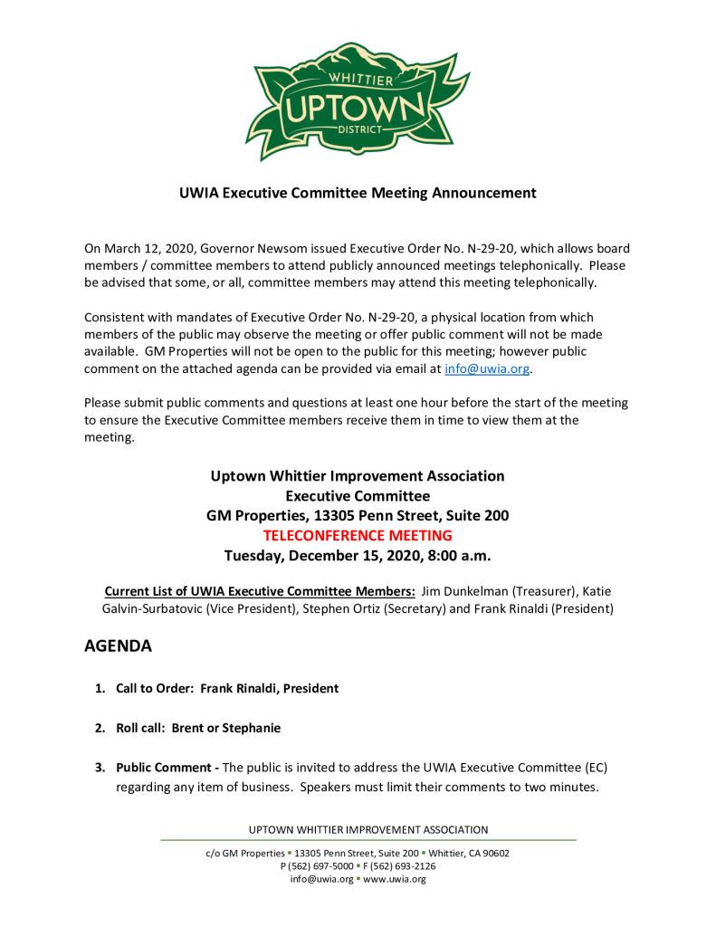 thumbnail of UWIA Executive Committee Meeting Agenda Packet 12-15-2020