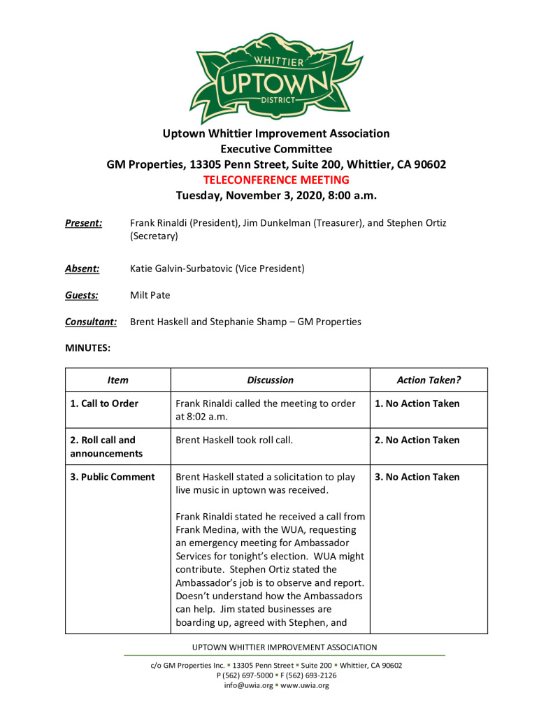thumbnail of UWIA Executive Committee Meeting Minutes 11-03-2020 final