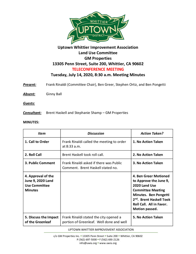 thumbnail of UWIA Land Use Committee Meeting Minutes 07-14-2020 final