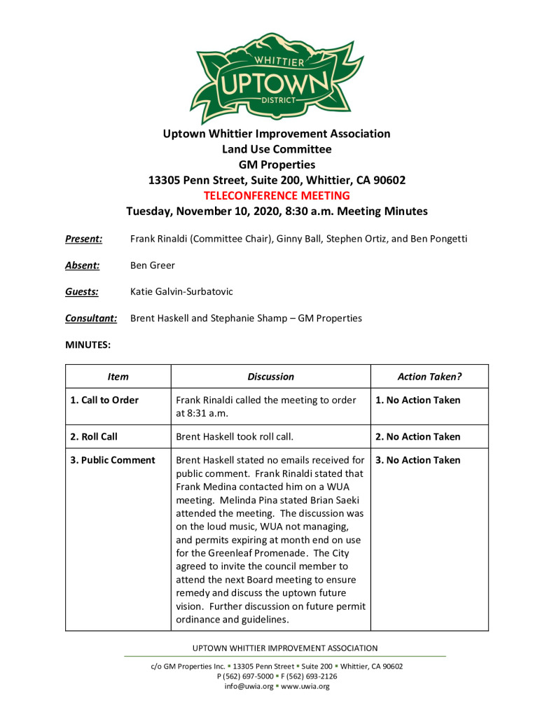 thumbnail of UWIA Land Use Committee Meeting Minutes 11-10-2020 final