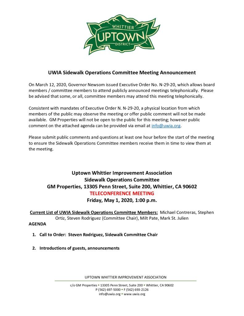 thumbnail of UWIA Sidewalk Operations Committee Meeting Agenda Packet 05-01-2020