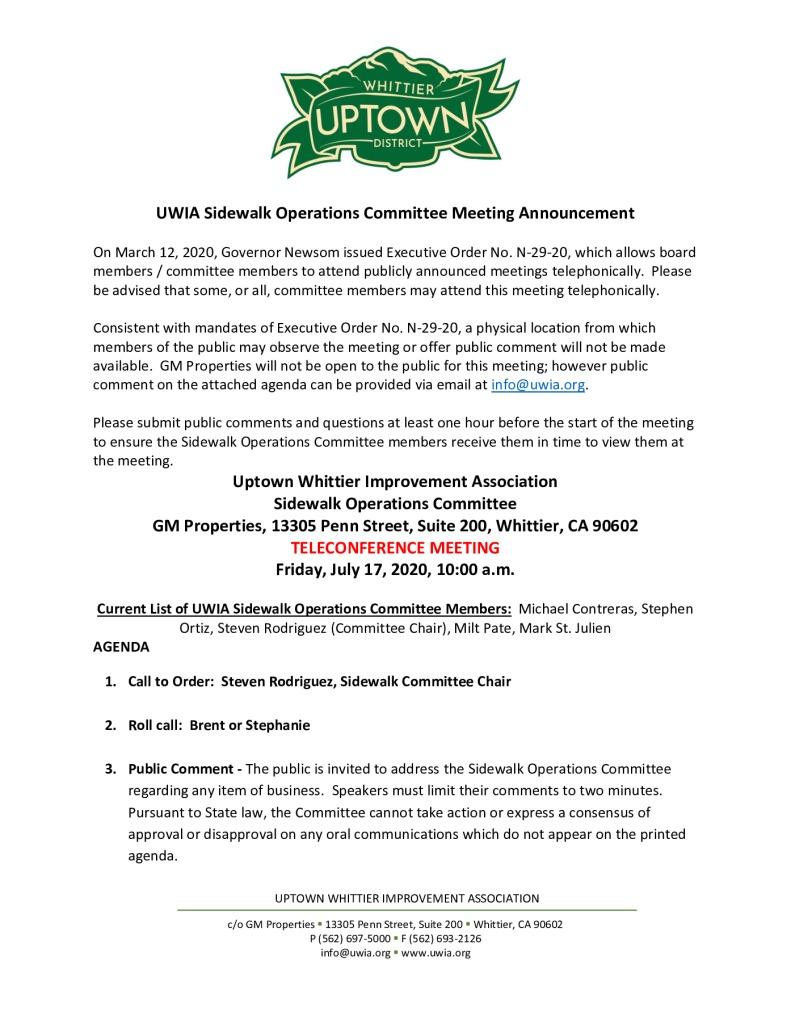 thumbnail of UWIA Sidewalk Operations Committee Meeting Agenda Packet 07-17-2020