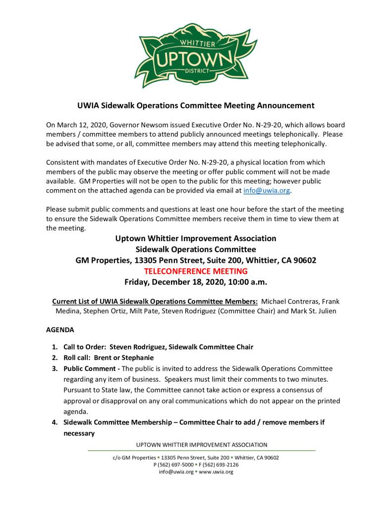 thumbnail of UWIA Sidewalk Operations Committee Meeting Agenda Packet 12-18-2020
