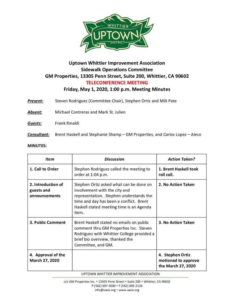 thumbnail of UWIA Sidewalk Operations Committee Meeting Minutes 05-01-2020 final