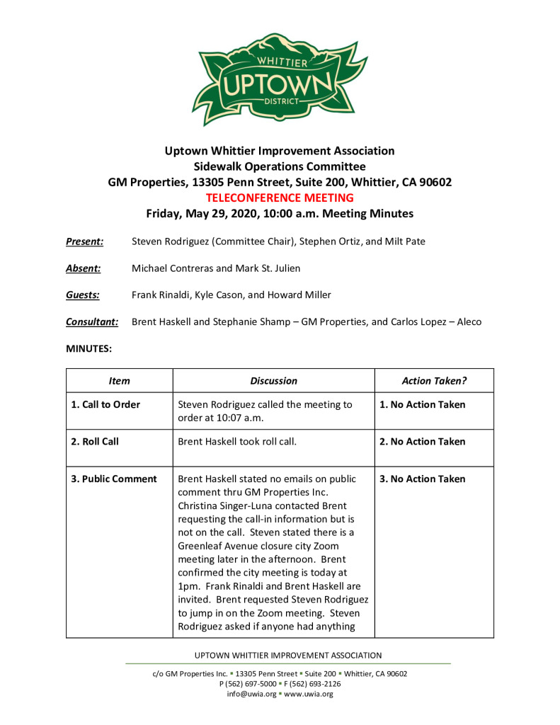 thumbnail of UWIA Sidewalk Operations Committee Meeting Minutes 05-29-2020 final
