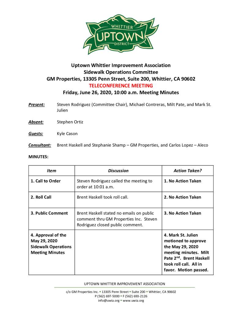 thumbnail of UWIA Sidewalk Operations Committee Meeting Minutes 06-26-2020 final