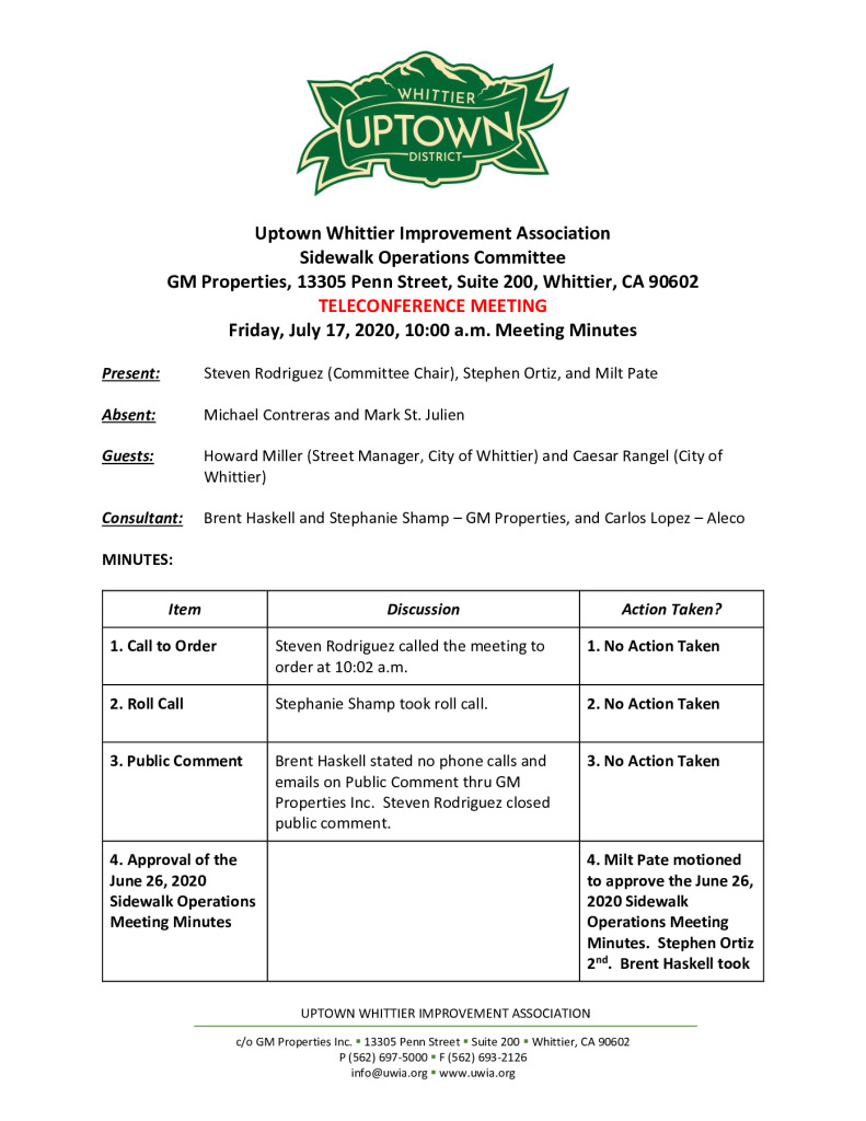 thumbnail of UWIA Sidewalk Operations Committee Meeting Minutes 07-17-2020 final