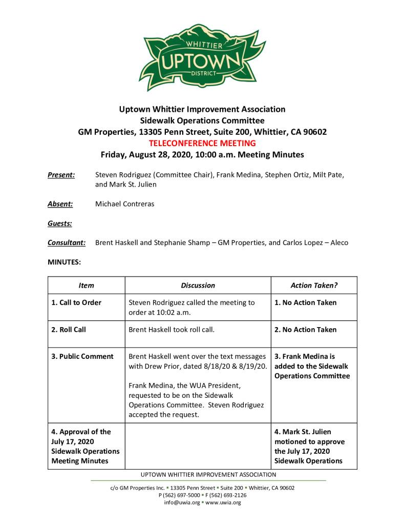 thumbnail of UWIA Sidewalk Operations Committee Meeting Minutes 08-28-2020 final